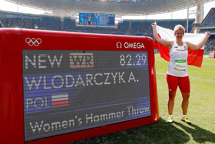 rzut młotem - Złoty medal i rekord świata Anity Włodarczyk