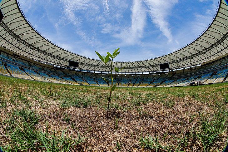 Opuszczony stadion Maracana po Igrzyskach Olimpijskich Rio2016
