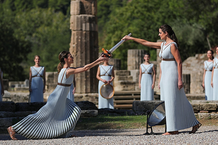 W starożytnej Olimpii zapłonął ogień olimpijski przed IO w Pekinie